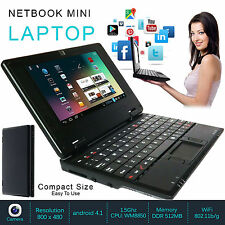 "Nuevo Mini Portátil Netbook 7"" WIFI ANDROID 4GB Notebook Pc Laptop Barato"