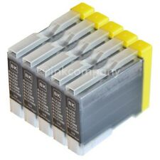 5x bk Brother DCP-130C DCP-135C DCP-150C DCP-330C MFC-235C MFC260C LC970 LC1000