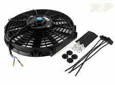 "8"" Universal Thin 12v Race Spec Radiator/Intercooler Fan + Fitting Kit"