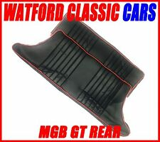 MGB GT Rear seat Covers All years Black/RED  piping