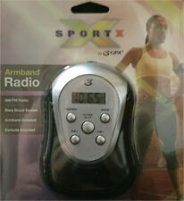 GPX Digital AM FM Radio with Sport Armband and Earbuds New Black and Silver New