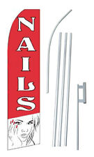 Nails 15' COMPLETE SWOOPER FLAG STARTER KIT Bow Feather