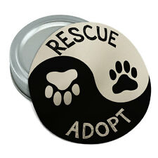 Rescue Adopt Yin Yang Paw Prints Dogs Cats Rubber Jar Gripper Lid Opener