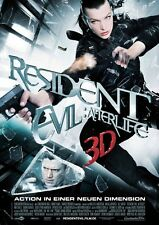 POSTER RESIDENT EVIL MILLA JOVOVICH 2 3 4 AFTER LIFE #4