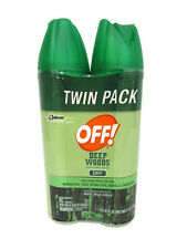 OFF! Deep Woods Insect Repellent Dry West Nile Virus Protection Twin Pack 4Oz Ea