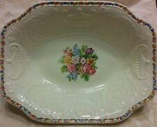 """Vintage Steubenville Adam Antique 10"""" x 8"""" Platter Rose Floral Center & Rim"""