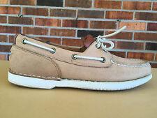 "Sharp! Mens Leather ""Rockport"" Boat Shoes - Size US 9 M"