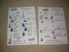 Musicman guitarras y bajos 2004 Reino Unido importadores colector de guía de precios Personalizado Studio