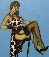 Erotic Original Oil Painting   Shades by Terry P Wylde : Shoe Dangling Secretary