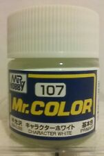 "Gunze Sangyo ""Mr Hobby"" C-107 acrylic paint Semi-gloss  Character white."