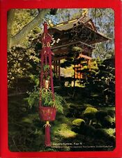 Japanese Garden Inspired Plant Hanger - Craft Book: # Mac800 Macrame by the Bay