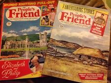 2X People's Friend Magazine 14th Mar 3rd Oct 1987 Vintage Knitting Knit Pattern