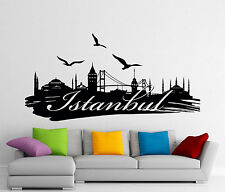 Istanbul Wall Decal City Town Skyline Vinyl Sticker Turkey Art Decor Mural 104u