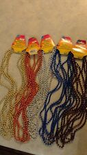 "Mardi Gras Beads Necklaces Party Favors 6 paks of 4     7mm 32"" witrh tags"