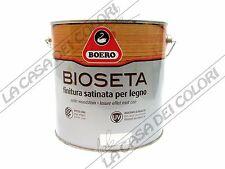 BOERO - BIOSETA - 2,5 lt - INCOLORE - FINITURA SATINATA PER LEGNO AL SOLVENTE