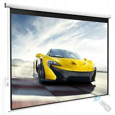 100'' 4:3 HD Movie Theater Projection Screen Electric Remote Control Matte White