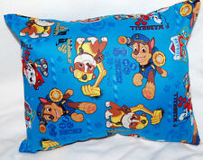 NEW HANDMADE MINI PAW PATROL TODDLER/ TRAVEL/ CAR  PILLOW BLUE SAME FRONT & BACK