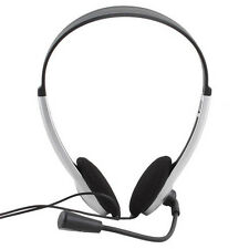 Stereo Headphone Headset Earphone with Microphone for PC Laptop Computer Style