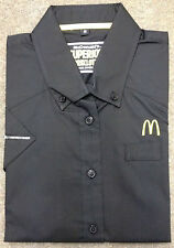 McDONALDS CREW / WORK SHORT SLEEVE SHIRT BLACK SIZE S WORKWEAR