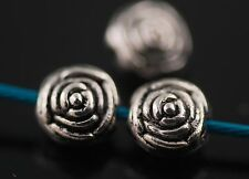 50Pcs Charms Tibetan Silver Crafts Jewelery Finding Spacer Flower Beads 6mm