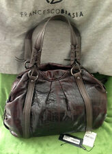 **EUC** Brown Croc Leather Satchel by FRANCESCO BIASIA!!! Retailed for $598.00