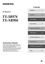 Onkyo Integra TX-SR876 Receiver Owners Instruction Manual