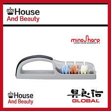 Global Knife Sharpener, Global Minosharp Plus 3 stage Ceramic Water Sharpener