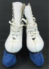 American Rocket Ladies Figure Ice Skates 524 Size 8 Blade Guards White Womens