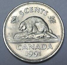 1991 CANADA - 5 CENTS - NICKEL - Elizabeth II - Nice