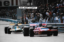 9x6 Photograph Chris Amon , March 701/ Jack Brabham Brabham BT33, Monaco GP 1970
