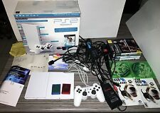 Sony Playstation 2 PS2 Ceramic white limited edition white console bundle read