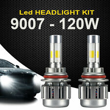 2x 9007 120W 12000LM LED Headlight Light Car Kit 6000K White Hi/Lo Beams Bulbs