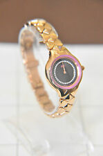 MW by Matthew Williamson Ladies Swarovski Crystal black dial Watch RRP £99. A- ~