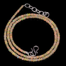 """22CRTS 2.5to3MM 18"""" ETHIOPIAN OPAL RONDELLE BEAUTIFUL BEADS NECKLACE OBI1356"""
