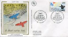 FRANCE FDC - 2895 2 DEBARQUEMENT EN PROVENCE - TOULON 13 Aout 1994-LUXE soie