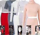Two Piece Mini Midi Skirt Dress Crop Top Set Long Sleeve Party Kim Kardashian