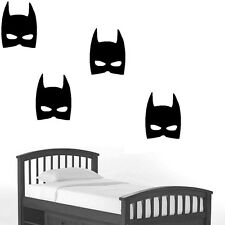 Large 10'' batman mask wall decal sticker removable kids room decor black vinyl