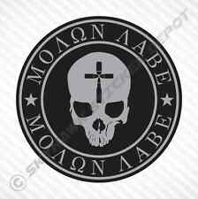 Molon Labe Bullet Cross Skull Sticker Vinyl Decal Car Gun Decal Fits Jeep Ford