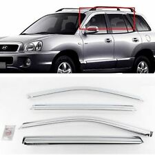 New Chrome Window Sun Visor Cover K-635 for Hyundai Santa Fe 2001-2005