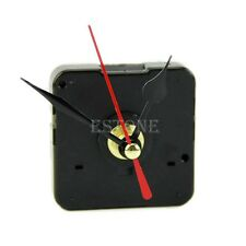 Quartz Wall Clock Movement Mechanism Repair Tool Kit with Black & Red Hands DIY