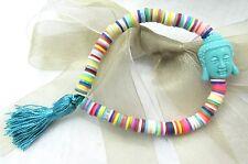Polymer Clay Bracelets with Tassel and Buddha Bracelet