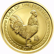YEAR OF THE ROOSTER GOLD proof coin Mongolia 2017 encapsulated with COA