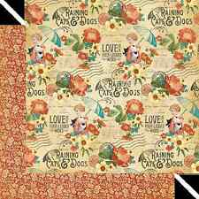 Graphic45 PRECIOUS PETS 12x12 Dbl-Sided Scrapbook (2) Papers VINTAGE DOGS CATS
