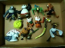 Kung Fu Panda Set of 11 Mcdonalds Po Shifu Viper Monkey Crane Mantis Tigress