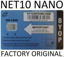 NET10 NANO SIM CARD / PROVIDES UNLIMITED AT&T SERVICE $35 mo.