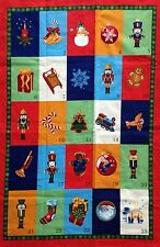 VIP NUTCRACKER Christmas Advent Calendar & Ornaments Fabric Craft Panel NEW