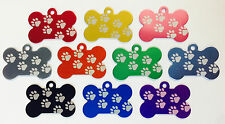 50 ��Walking Paw Print Dog Bone Pet ID tags Anodized ALuminum Laser Blank