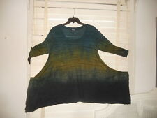 Art of Cloth ~ Art to Wear ~ Ombre Stripe Seabreeze Tunic ~ L