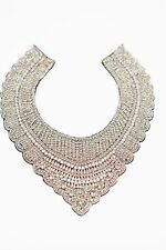 HAUTE HIPPIE $500 Rhinestone Swarovski Crystal Bib Collar Jewelry Dress Necklace