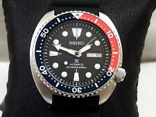 New Seiko Prospex Turtle Black Pepsi Automatic Day Date Scuba Diver Watch SRP779